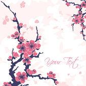 Abstract background with sakura — Stockvektor