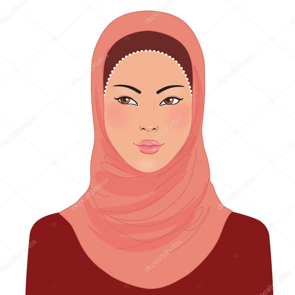Рисунки красивых хиджабов