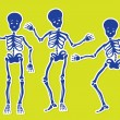 Stock Vector: Dancing Skeletons