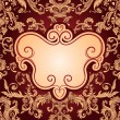 Stock Vector: Vintage background ornate baroque pattern