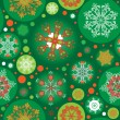Stock Vector: Seamless green christmas pattern