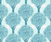 Seamless pattern with trees in blue. — Stock Vector
