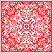 Red beautiful vector tree pattern — ストックベクタ