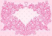 Schöne rosa wirbelt hintergrund. — Stockvektor
