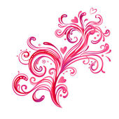Beautiful pink swirls background. — Vetor de Stock