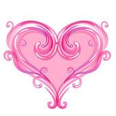 Beautiful pink swirls background. — Stock Vector