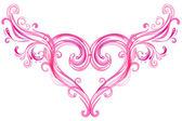 Bella turbinii rosa sfondo. — Vettoriale Stock