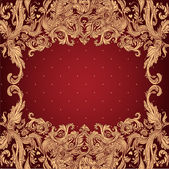Vintage background ornate baroque pattern — Stock Vector