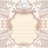 Vintage background baroque frame — Stock Vector