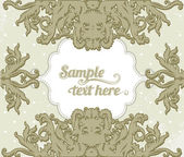 Glamour vector vintage ornate frame — Stock Vector