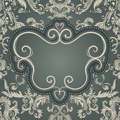 Vintage baroque pattern — Vector de stock