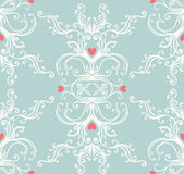 Seamless vintage background baroque pattern — Stock Vector