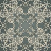 Vintage patrón barroco — Vector de stock