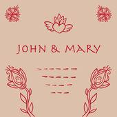 美丽的花卉邀请卡设计模板. — 图库矢量图片