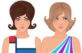Hairstyle and make-up — Stock Vector