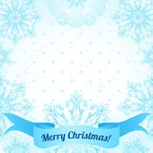 Christmas frame with snowflakes — Stock Vector