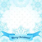 Marco de navidad con copos de nieve — Vector de stock