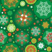 Wzór zielony boże narodzenie — Wektor stockowy