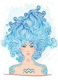 Aquarius astrological sign — Vecteur