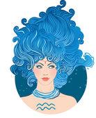 Aquarius astrological sign — Stock Vector