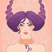 Signe astrologique capricorne — Vecteur