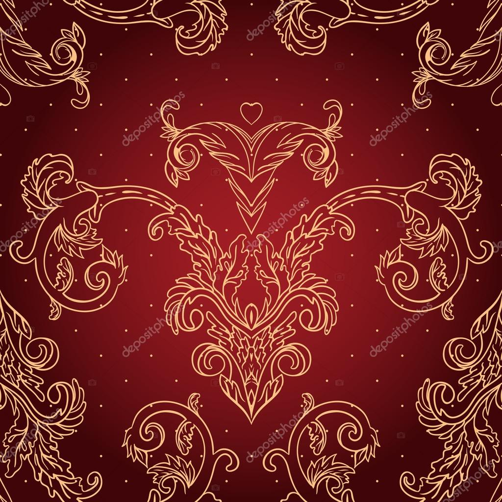 Vintage background ornate baroque pattern vector illustration stock - Vintage Background Ornate Baroque Pattern Stock Vector 37532463