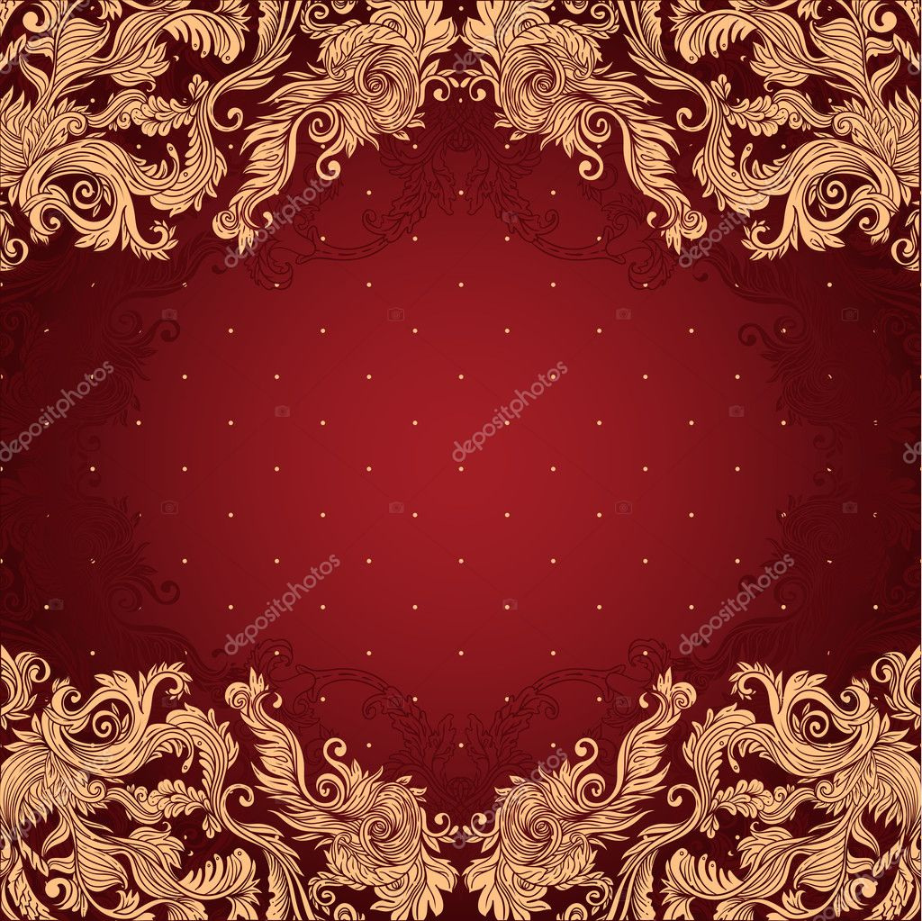 Vintage background ornate baroque pattern vector illustration stock - Vintage Background Ornate Baroque Pattern Stock Vector 37532555