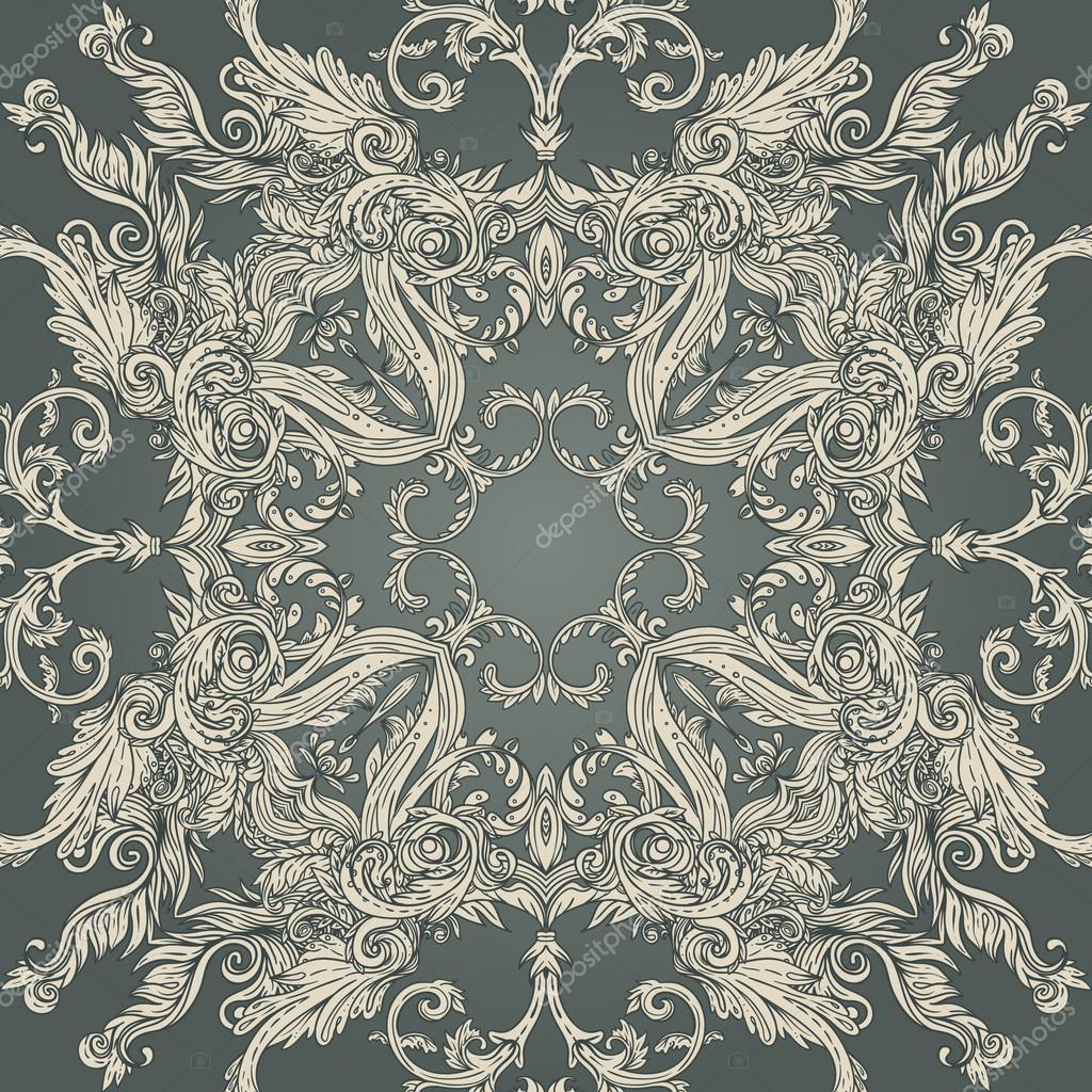 vintage baroque pattern stock vector vgorbash 37533401. Black Bedroom Furniture Sets. Home Design Ideas