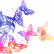 Background with butterflies and flowers — Stock Vector #37585671