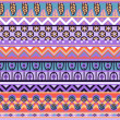Ethnic African pattern in retro colors — Stock Vector