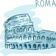Stock Vector: World famous landmark series: Roma
