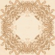 Vintage frame template — Stock Vector