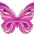 Stock Vector: Pink butterfly