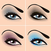 Beautiful female eyes — Stock Vector