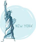 Wo statue of liberty, new york, usa — Stockvektor
