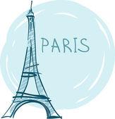 Eiffel Tower, Paris, France — Stock Vector