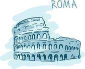 World famous landmark series: Roma — Stock Vector