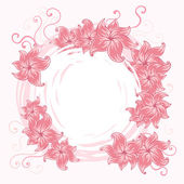 Romantic background with pink flowers — Stock Vector