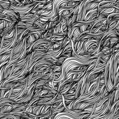Abstrakt handritade mönster med vågor — Stockvektor
