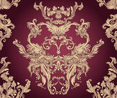 Vintage background ornate baroque pattern — Wektor stockowy