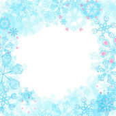 Vector Christmas frame with snowflakes — ストックベクタ