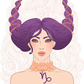 Capricorn astrological sign — Stockvector