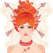 Sagittarius astrological sign — Stockvector