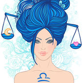 Illustration of libra zodiac sign — Stock Vector