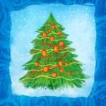 Hand drawn christmas card design — Foto Stock