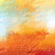 Watercolor background in red and yellow — Stock Photo