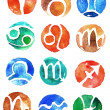 Watercolor zodiac signs icon set — Stock Photo #40838601