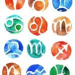 Watercolor zodiac signs icon set — Stock Photo #40838601