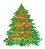 Árbol de Navidad dibujados a mano — Foto de Stock