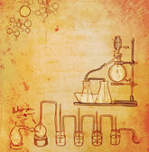 Old chemistry laboratory background — Stock Photo